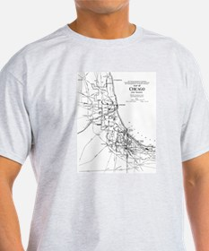 Vintage Map of The Chi T-Shirt