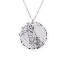 Vintage Map of The Chicago R Necklace