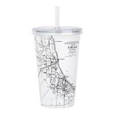 Vintage Map of The Chi Acrylic Double-wall Tumbler