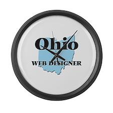 Ohio Web Designer Large Wall Clock