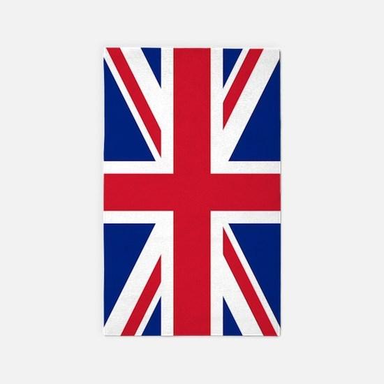 London Union Jack British Flag Area Rug