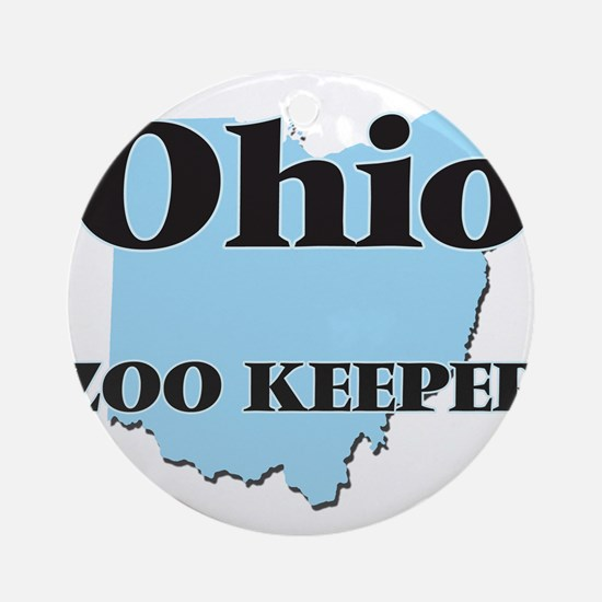 Ohio Zoo Keeper Round Ornament