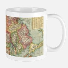 Vintage Map of New England States (1900) Mugs