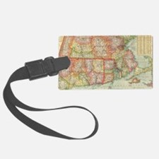 Vintage Map of New England State Luggage Tag