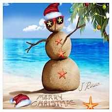 J Rowe Christmas Sandman Poster