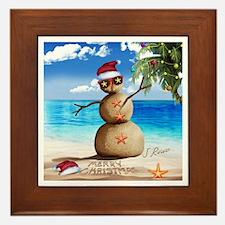 J Rowe Christmas Sandman Framed Tile