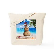 J Rowe Christmas Sandman Tote Bag