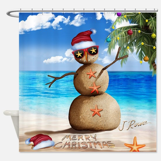J Rowe Christmas Sandman Shower Curtain