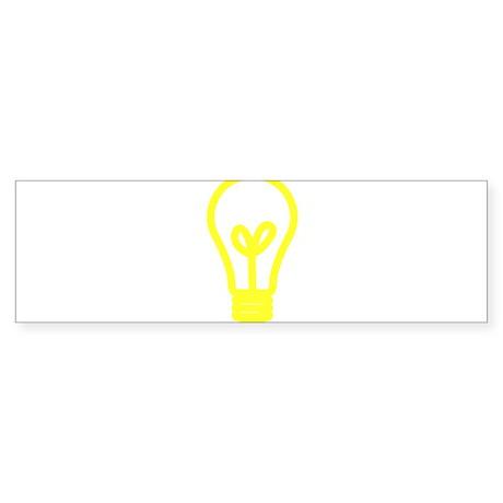 Light Bulb Bumper Sticker