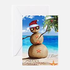 J Rowe Christmas Sandman Greeting Cards