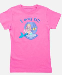 Cute Mermaid birthday Girl's Tee