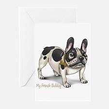 Cute French bulldog Greeting Cards (Pk of 20)