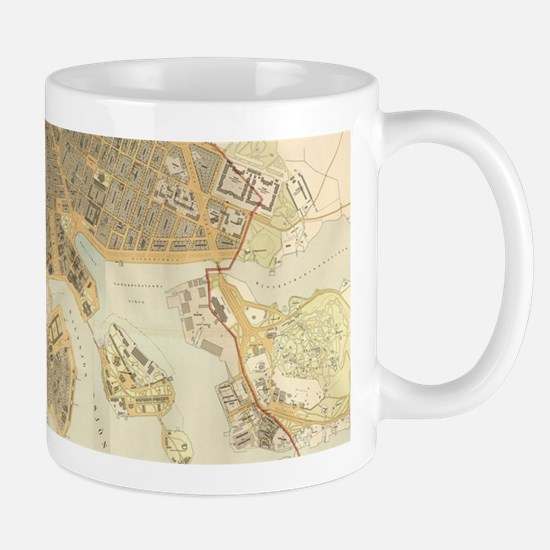 Vintage Map of Stockholm (1899) Mugs