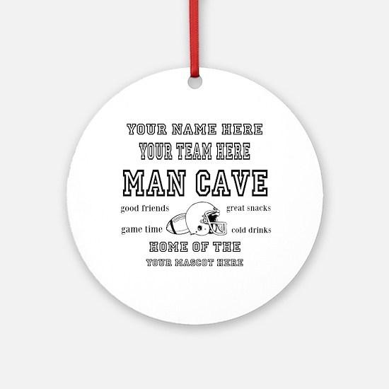 Football Mancave Round Ornament