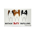 Nothin' Butt Papillons Rectangle Magnet (100 pack)