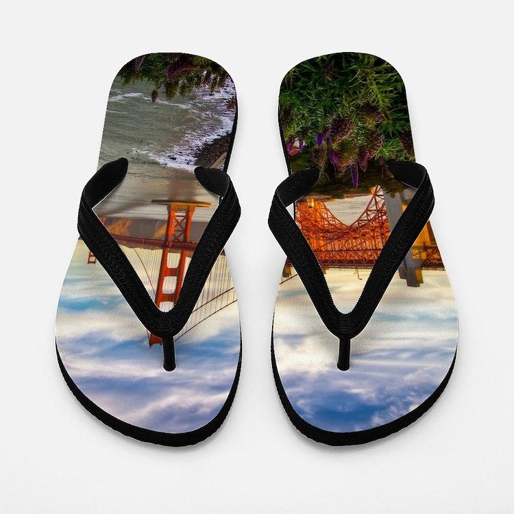 Golden Gate Bridge Flip Flops