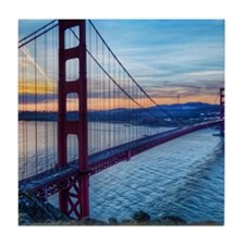 Golden Gate Bridge Tile Coaster