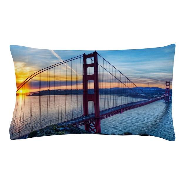 Golden gate bridge pillow case by wickeddesigns4 for Golden gate bridge jewelry