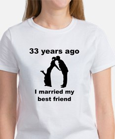 33 Years Ago I Married My Best Friend T-Shirt