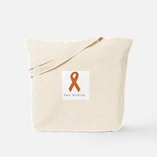 Fear Nothing: Orange Ribbon Tote Bag