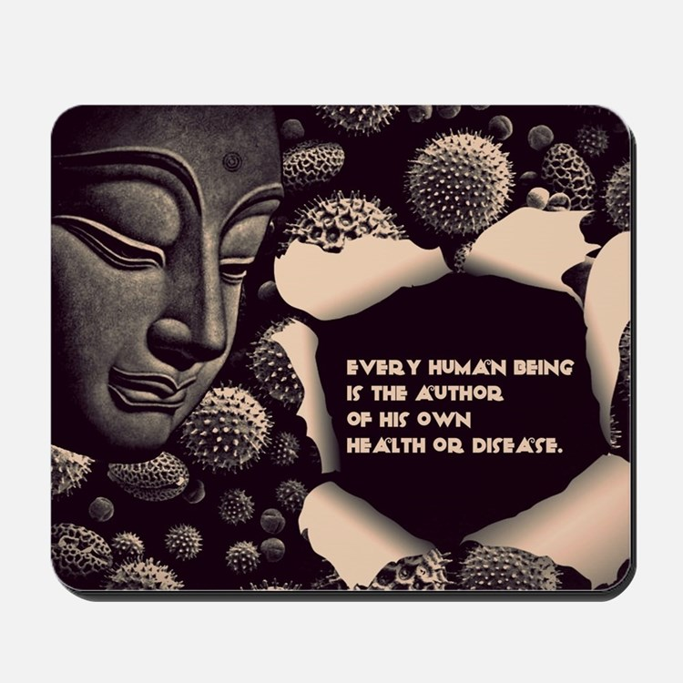 Buddha Every Human Being is the Author o Mousepad