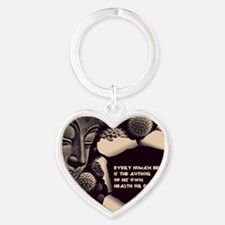 Buddha Every Human Being is the Aut Heart Keychain