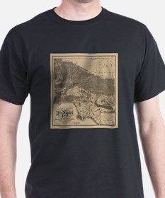 Vintage Map of Los Angeles County CA (1900 T-Shirt