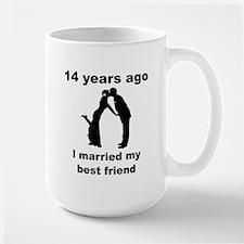 14 Years Ago I Married My Best Friend Mugs