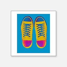 Blue Orange Pink Sneaker Shoes Sticker