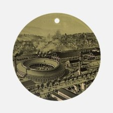 Vintage Pictorial Map of Altoona PA Round Ornament