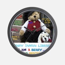 I AM A BEARY GOOD READER. HENRY INMAN L Wall Clock