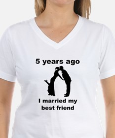 5 Years Ago I Married My Best Friend T-Shirt