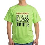Dog grooming Green T-Shirt