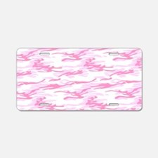 Pink Camo Plate Aluminum License Plate