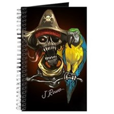 J Rowe Pirate and Parrot Black Background Journal