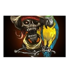 J Rowe Pirate and Parrot Postcards (Package of 8)