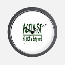 """The 'A' Word"" Wall Clock"