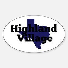 Texas - Highland Village Decal