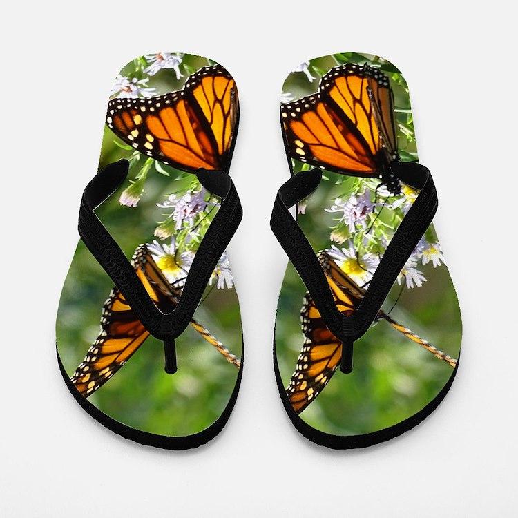 Monarch Butterfly Flip Flops