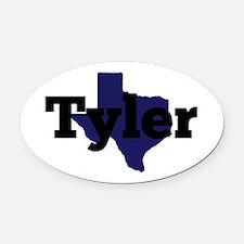 Texas - Tyler Oval Car Magnet