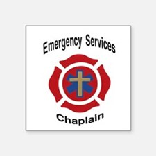 "Unique Chaplain Square Sticker 3"" x 3"""