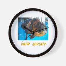 NEW JERSEY AVINS FISH. Wall Clock