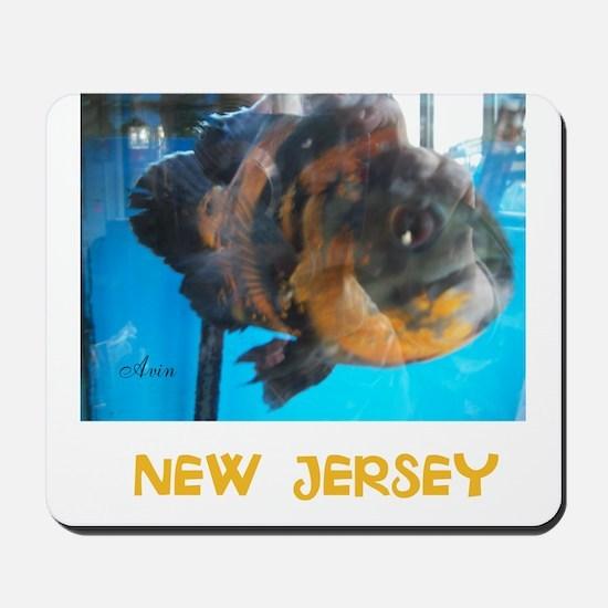 NEW JERSEY AVINS FISH. Mousepad