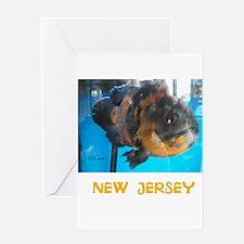 NEW JERSEY AVINS FISH. Greeting Card