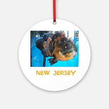 NEW JERSEY AVINS FISH. Round Ornament