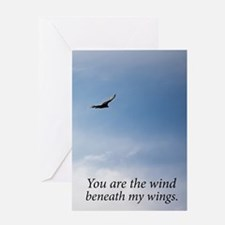 Wind Beneath my Wings Greeting Cards