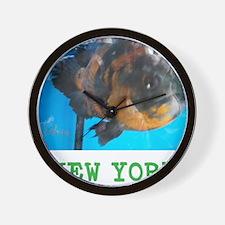 NEW YORK AVINS FISH. Wall Clock
