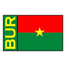Burkina faso stickers Rectangle Decal