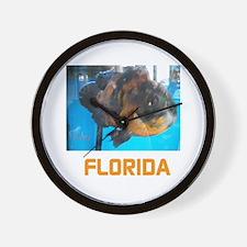 FLORIDA AVINS FISH. Wall Clock