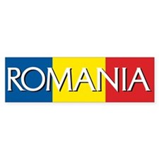 Romania Flag Bumper Bumper Sticker